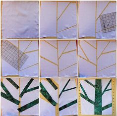 Tree Quilt Block Progress | by DanaK~WaterPenny