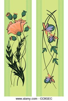 Floral Art Nouveau High Resolution Stock Photography and Images