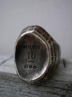 Julius 10th anniversary ring. A collaborative effort with Garni the ring is now available exclusively in japan.