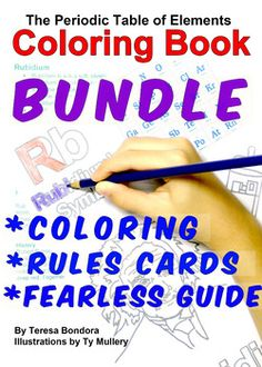 BUNDLE Periodic Table Coloring Book Rules Cards and Fearless and Simple Guide to The Periodic Table