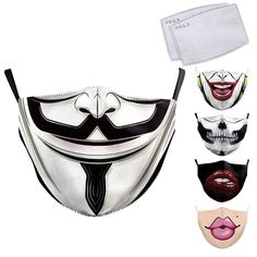 🔰 【MESH CONSTRUCTION】 The pollution mask is made of Nylon which offers excellent permeability. The lightweight air face mask is comfortable, breathable and good to wear in hot weather. #facemask #joker #vendetta #maskforface #masks Ghost Face Mask, Nose Mask, Face Masks, Mustache Template, Mouth Mask Design, Joker Face, Mask Painting, Ghost Faces, Half Mask