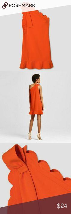 779ec7fcdcd One-Shoulder Dress by Victoria Beckham for Target Scalloped one-shoulder  mini dress in