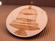 Plywood laser engraved and cut coasters set by InvenioCrafts, €14.00