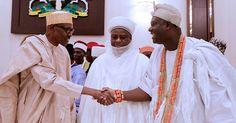 President Buhari Pictured With The Ooni of Ife, Oba Adeyeye Ogunwusi Ojaja II And Other Traditional Rulers (Photos)