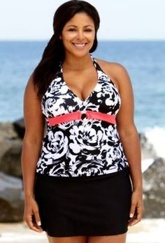 amazon: two styles! beach belle® riviera plus size bandeau
