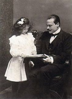 Elisabeth with her father Grand Duke Ernst of Hesse