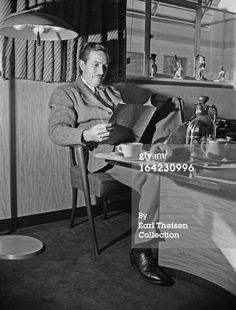 LOS ANGELES - CIRCA 1945: Walt Disney poses for a portrait in his office circa 1945 in Los Angeles, California. (Photo by Earl Theisen/Getty Images)