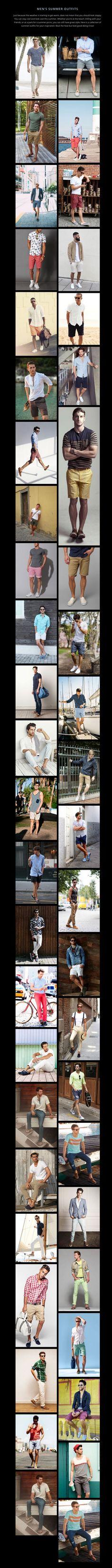 Con estos outfits seguro que tu hombre se inspirará para lucir look en verano :)