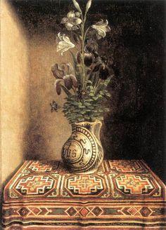 Hans Memling. Reverso del retrato de hombre joven que se encuentra en el Museo Thyssen-Bornemisza