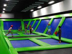 Indoor trampoline room
