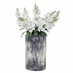 整体花艺 奶白色存花+陶瓷花器 W700*D300*H800mm