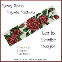 Roses Spray Peyote Bracelet Pattern