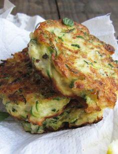 Zucchini, Ricotta & Feta Fritters with Dill