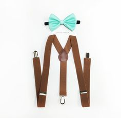 Hey, I found this really awesome Etsy listing at https://www.etsy.com/listing/207449105/brown-suspenders-mint-green-bowtie-mint