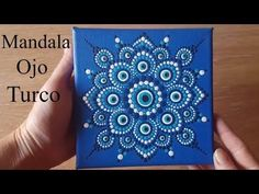 Como pintar mandalas con acrílicos #10 - Ojo turco - Turkish eye - YouTube