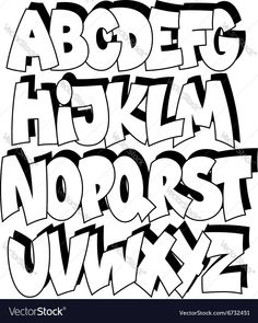 Cartoon Graffiti Alphabet Cartoon Comic Graffiti Font Alphabet Royalty Free Vector