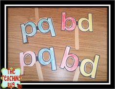 Classroom Freebies Too: Letter B and D masks Craftivity Beginning Reading, Beginning Of School, Guided Reading, Kindergarten Language Arts, Kindergarten Reading, Kindergarten Classroom, Teaching The Alphabet, Learning Letters, Alphabet Activities