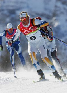 Mathias Fredriksson of Sweden competes in the Mens Cross Country Skiing 50km Mass Start Final on Day 16 of the 2006 Turin Winter Olympic Games on February 26, 2006 in Pragelato Plan, Italy.(February 26, 2006 - Source: Clive Mason/Getty Images Sport)