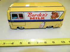 RARE 1950s or 1960s Tin Friction Bordens Milk Truck   eBay