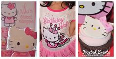 Hello Kitty party ideas and inspiration, cute hello  Kitty birthday cupcakes, Hello Kitty girls outfit and hello kitty party decorations via @frostedevents