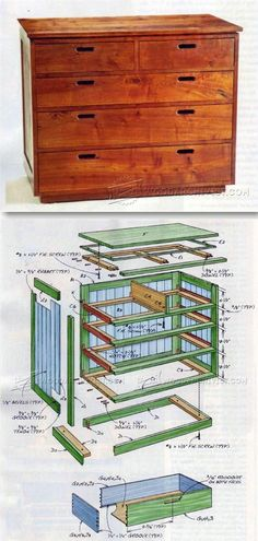 Build Chest of Drawers - Furniture Plans and Projects | WoodArchivist.com #woodcrafts