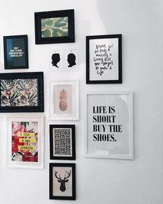 """""""parede de casa linda, graças à @nanusstore e seus quadrinhos lindos. ♡"""""""