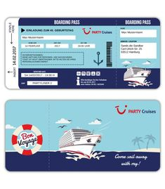 Einladungskarte-als-Bordkarte-Schiffsticket-Kreuzfahrtticket-Boarding-Pass-Pary-Cruises