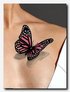 Temporary Tattoo-Pink Butterfly Tattoo-Stocking stuffer-Watercolor Tattoo-Tattoo Sticker-Gifts For Women (affiliate) Arm Tattoos For Guys, Trendy Tattoos, Sexy Tattoos, Body Art Tattoos, Tattoos For Women, Cool Tattoos, Bicep Tattoos, Classy Tattoos, Chest Tattoo For Ladies