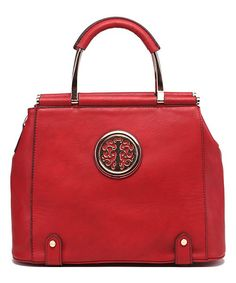 Red Medallion Satchel