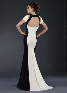 Buy discount Fantastic Chiffon Jewel Neckline Mermaid Evening Dresses With Sleeves at