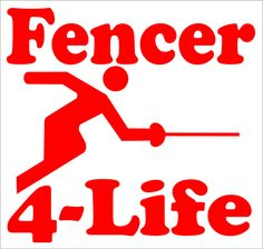 Magnet for fencing enthusiasts. Fun vehicle decor for fencers.