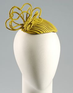 Cocktail hat | United States, ca. 1955 | Designer: Lillie Rubin | Material: synthetic | The Metropolitan Museum of Art, New York #millinery #judithm #hats