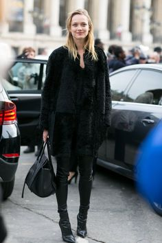 Pin for Later: The Most Memorable Style Moments Came From the Models at PFW PFW Day Five Model carrying a Céline bag.