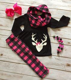 Cozy Deer 3-Piece Boutique Outfit