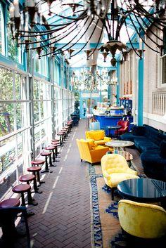 Ocho Restaurant at the Hotel Havana in San Antonio.  fun spot