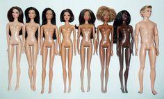 Mattel's Pivotal Body Skin Tone Comparison. [Explore]