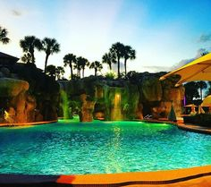25 over-the-top Orlando hotel pools you totally shouldn't sneak into Orlando Resorts, Hotels And Resorts, Splash Zone, Florida Springs, Hotel Pool, Water Slides, Rock Climbing, Paths, Waterfall