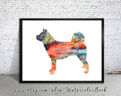Hey, I found this really awesome Etsy listing at https://www.etsy.com/listing/208574081/akita-watercolor-printchildrens-wall-art