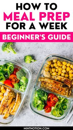 How to meal prep for a week. Great meal prepping ideas for weight loss. Learn how to make 5 dinners in under an hour with these beginner's meal prep tips. Healthy meal prep ideas. Clean Eating Recipes For Weight Loss, Best Weight Loss Foods, Weight Loss Meal Plan, Easy Weight Loss, Healthy Weight Loss, Lose Weight, Healthy Dinner Recipes, Gf Recipes, Healthy Meal Prep