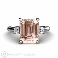 Hey, I found this really awesome Etsy listing at https://www.etsy.com/listing/157103702/emerald-morganite-engagement-ring-3