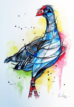 Click image to close this window Maori Symbols, Steampunk Animals, Spring Animals, New Zealand Art, Nz Art, Maori Art, Desenho Tattoo, Kiwiana, Watercolor Cards