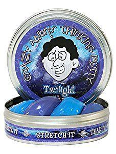 Amazon.com: Crazy Aaron's Thinking Putty Heat Sensitive Hypercolor, Twilight, 3.2 oz: Toys & Games