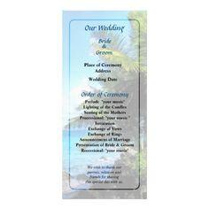 Palm Trees and Beach St. Thomas VI Wedding  -- St Thomas Virgin Islands destination wedding program that you can customized yourself.  #wedding  #weddingprogram #weddingprograms #gettingmarried #customize #destinationwedding #stthomas #virginislands #vi #caribbean #palmtrees #beach  $0.65 per card   BULK PRICING AVAILABLE!