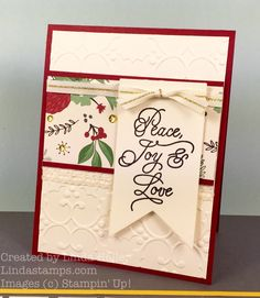Brian King asked me to join his July InKing Royalty bloghop as a guestand of course I said yes! I know it seemsearly to be thinking about making holiday cards but our current Stampin' U…