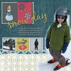 Snow Day Winter Additions Digital Scrapbook Layout Page Idea from Creative Memories