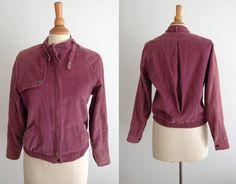 80's Purple Corduroy N'estCe Pas Moto Cut Jacket by ElkHugsVintage, $24.00