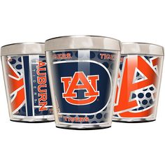 Great American Products Officially Licensed NCAA 3-piece Acrylic & Stainless Steel Shot Glass Set - Auburn Tigers