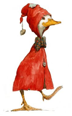 Art:  'PETITE ROUGE' (the little red duck from the Cajun Red Riding Hood…