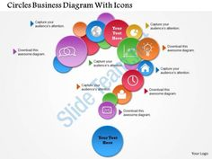 0814 business consulting circles business diagram with icons powerpoint slide template Slide01