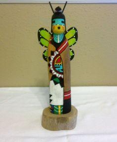 """Hopi Kachina """"Butterfly"""" Girl By Virgil Long 8.5"""""""